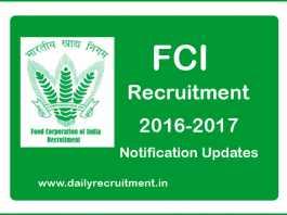 FCI Recruitment 2017