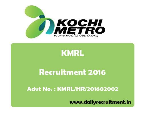 kochi-metro-rail-recruitment-kmrl-2016