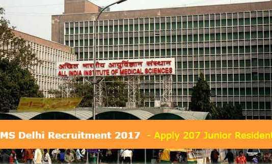 AIIMS Delhi Recruitment 2017