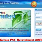 KPSC Recruitment 2017-Kerala PSC 153 Job Vacancies-Apply Online