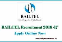 RailTel Recruitment 2017