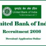 UBI Recruitment 2016 -Apply Online at www.unitedbankofindia.com
