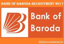 Bank of Baroda Recruitment 2017