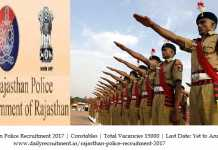Rajasthan Police Recruitment 2017