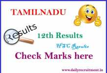Tamilnadu 12th Result 2017