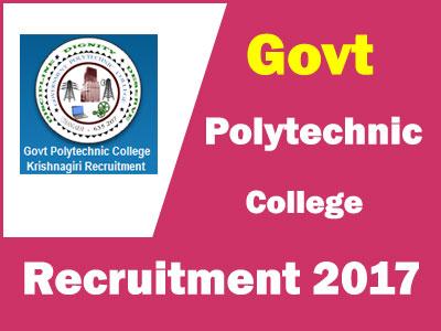 Govt-Polytechnic-College-Krishnagiri-jobs