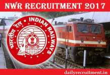 North Western Railway Recruitment 2017