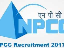 NPCC Recruitment 2017
