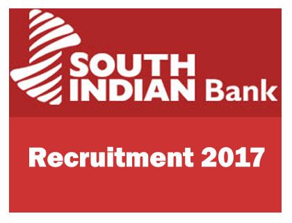 South Indian Bank Recruitment 2017