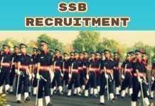 SSB Recruitment 2018