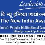NIACL Recruitment 2017, 984 Assistant Posts, apply online @ www.newindia.co.in
