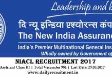 NIACL Recruitment 2017