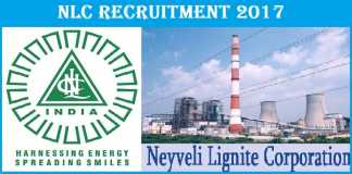 NLC Recruitment 2017