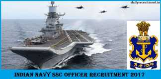 Nausena Bharti-Indian Navy SSC Officer Recruitment 2017