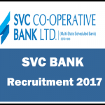 SVC Co-operative Bank Recruitment 2017-40 Clerical Cadre Posts Apply at svcbank.com