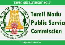 TNPSC Recruitment 2017