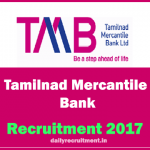 Tamilnad Mercantile Bank (TMB Recruitment 2017) for Clerks Posts-Apply at tmbnet.in