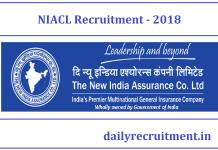 NIACL Recruitment 2018