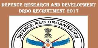 DRDO Recruitment 2017