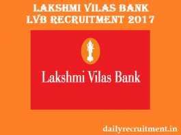 Lakshmi Vilas Bank LVB Recruitment