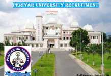 Periyar University Recruitment 2017