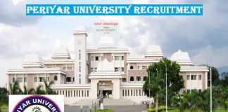 Periyar University Recruitment 2017