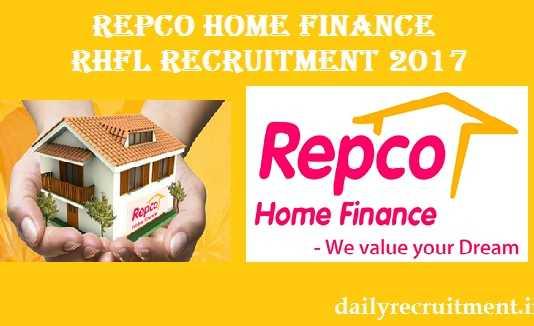 Repco Home Finance RHFL Recruitment 2017