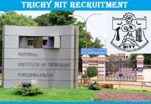 NIT Trichy Recruitment 2017