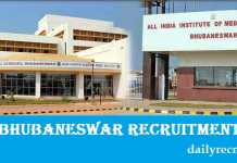 AIIMS Bhubaneswar Recruitment 2017