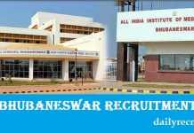 AIIMS Bhubaneswar Recruitment 2017