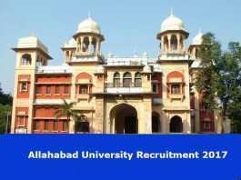 Allahabad University Vacancies 2017