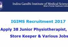 IGIMS Recruitment 2017