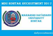 Maharshi Dayanand University Recruitment 2017