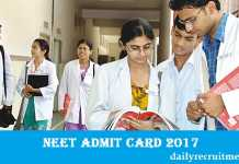 NEET Admit Card 2017