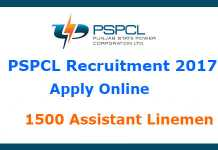 PSPCL Recruitment 2017