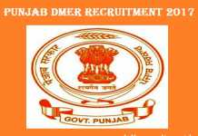 Punjab DMER Recruitment 2017