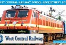 West Central Railway School Recruitment 2017