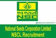NSCL Recruitment 2018