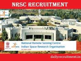 NRSC Recruitment 2017