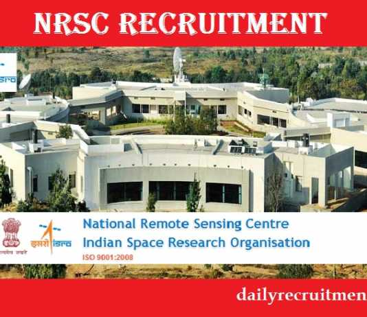 NRSC Recruitment 2018