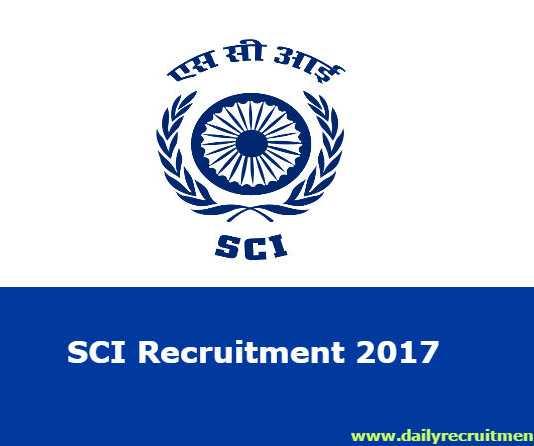SCI Recruitment 2017