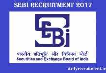 SEBI Recruitment 2017