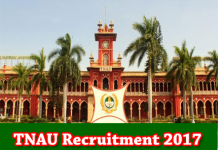 TNAU Recruitment 2017