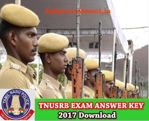 TN Police Answer Key 2017