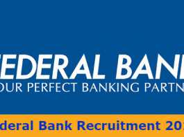 Federal Bank Recruitment 2017