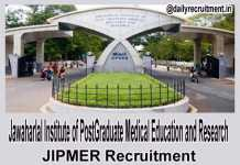 JIPMER Jobs 2018