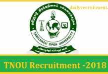 TNOU Recruitment 2018