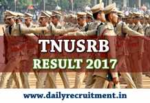 TNUSRB Result 2017