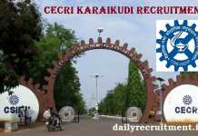 CECRI Karaikudi Recruitment 2018