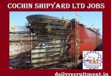 Cochin Shipyard Recruitment 2018